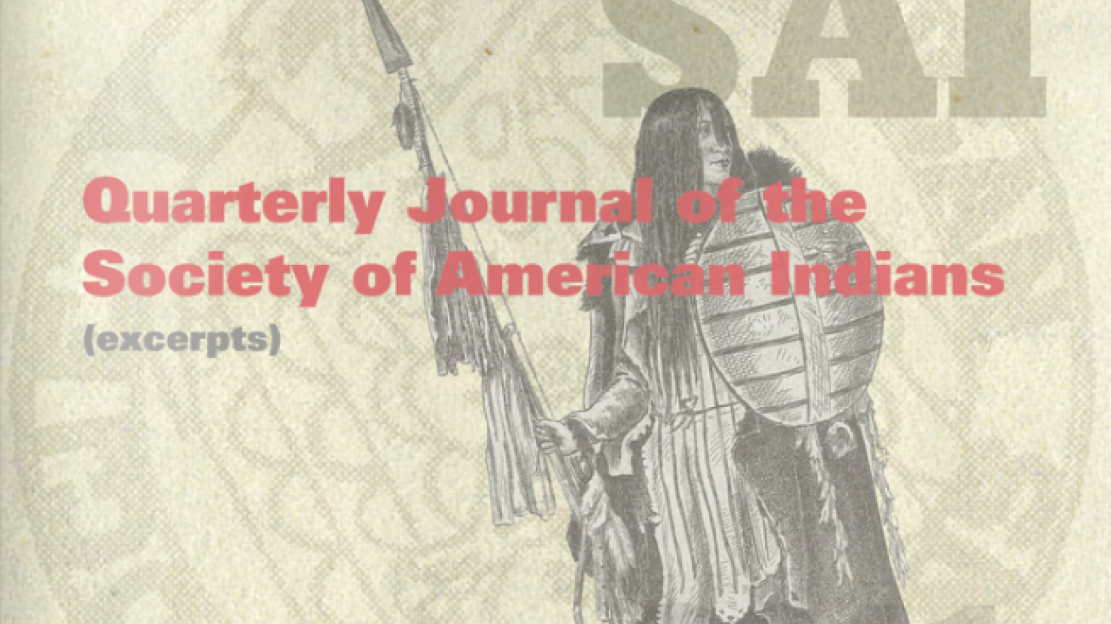 Quarterly Journal of the Society of American Indians, Image 1
